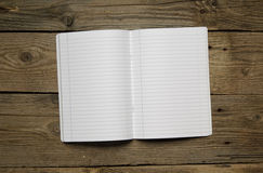 Blank notebook and different school objects Royalty Free Stock Photography