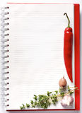 Blank notebook with fresh vegetables Royalty Free Stock Photo