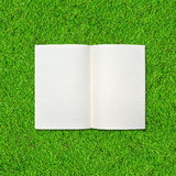 Blank notebook on Green Grass Royalty Free Stock Image