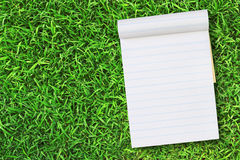Blank notebook on Green Grass Royalty Free Stock Photography