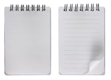 Blank notebook with and without grid Stock Image