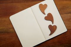 Blank Notebook With Hearts Royalty Free Stock Photo