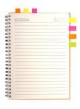 Blank notebook stock photos