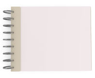 Blank Notebook isolated on white Royalty Free Stock Photo