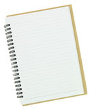 Blank notebook. Isolated on white Royalty Free Stock Photo