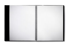 Blank Notebook isolated Stock Photography