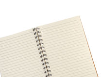 Blank notebook isolated on white background Stock Photos