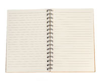 Blank notebook isolated on white background Stock Image