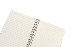 Blank notebook isolated on white background Royalty Free Stock Photo