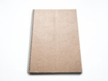 Blank notebook with kraft cardboard cover and spiral, mockup Stock Images