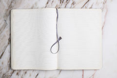Blank notebook with marker Royalty Free Stock Image
