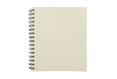 Blank notebook mock up isolated on white background. Clipping pa Stock Images