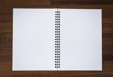 Blank notebook mock up Royalty Free Stock Photos