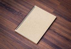 Blank notebook mock up Royalty Free Stock Photo