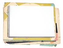 Blank notebook and old paper Royalty Free Stock Image