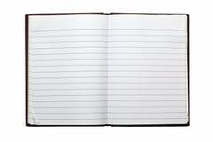 Blank NoteBook Open Stock Photo