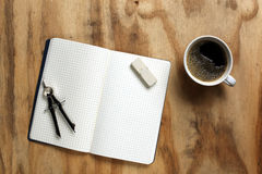 Blank notebook open Royalty Free Stock Image