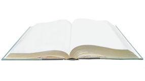 A blank notebook open Royalty Free Stock Image