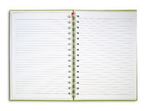Blank NoteBook open two face. On white background Stock Images