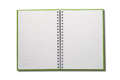 Blank Notebook open two face Royalty Free Stock Images