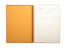Blank Notebook open two face stock image