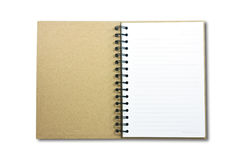 Blank NoteBook open two face stock photo