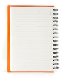 Blank notebook open on white background Stock Image