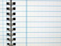 Blank notebook page Royalty Free Stock Photo