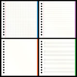 Blank Notebook Pages Stock Photo