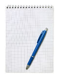 Blank notebook and pen Stock Photo