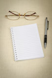Blank notebook Royalty Free Stock Image
