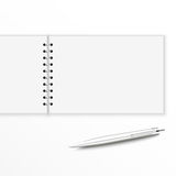 Blank notebook with pen. Royalty Free Stock Photography