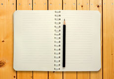 Blank notebook with pencil Royalty Free Stock Photography