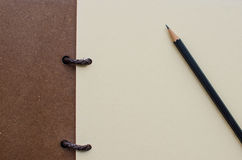 Blank notebook with pencil Stock Photography