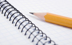Blank notebook and pencil Royalty Free Stock Photo
