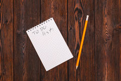 Blank notebook and pencil with todo list Royalty Free Stock Image