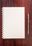 Blank notebook and pencil Stock Image