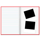 Blank notebook and photo Royalty Free Stock Photos
