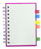 Blank notebook Pink cover. Isolate with clipping path Stock Images