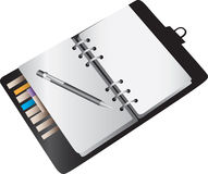 Blank notebook planner Stock Photos