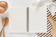 Blank notebook for recipes. Stock Images