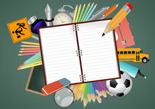 Blank notebook school Royalty Free Stock Photo