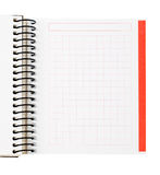 Blank notebook sheet Stock Photography