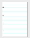 Blank Notebook Sheet. A blank sheet of notebook paper, ripped from the spiral Royalty Free Stock Photo