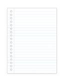Blank notebook sheet Stock Image