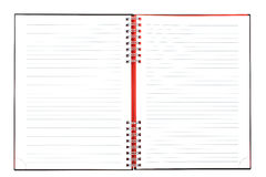 Blank notebook sheet Royalty Free Stock Images