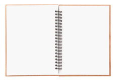 Blank notebook. With spiral isolated on white Stock Photo