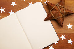 Blank NoteBook With Stars Stock Image