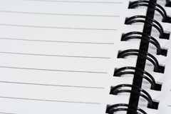 Blank  notebook for text or background Royalty Free Stock Images