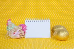 Blank notebook to insert your text here. Stock Images